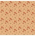 Poppy Flowers Pattern Seamless Pattern on Coral vector image vector image
