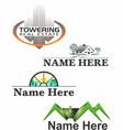 real estate logos 1 vector image vector image
