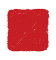 red grunge square banner vector image