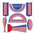 Ribbon banner flag American vector image vector image