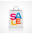 Sale shopping bag abstract vector image