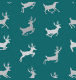 seamless pattern with flying deers wallpapers vector image vector image