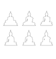 Set of Buddha Path on the white background vector image