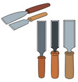 set of chisel vector image vector image