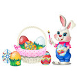 set of colorful easter eggs with patterns and vector image vector image
