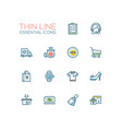 shopping - line icons set vector image vector image
