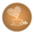 silhouette cup coffee grains text have a nice vector image vector image