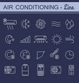 simple set of air conditioning icons for vector image vector image