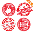 Stamp sticker All Inclusive collection vector image