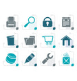stylized website internet and computer icons vector image vector image
