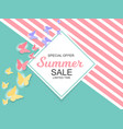 summer sale background vector image vector image
