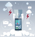 tablet computer device data protection cloud vector image vector image