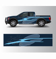 truck and car graphic background wrap and vinyl vector image vector image