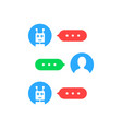 user interface like chatting with chat bot vector image vector image