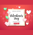 valentines day sale banner background vector image vector image