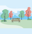 wooden park bench craft vector image