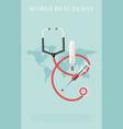 world health day mediacal vector image
