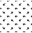 Black white seamless pattern with eyes vector image
