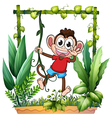 A monkey waving vector image vector image