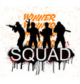 a squad 4 player pubg vector image vector image