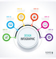 abstract circle infographics number options vector image vector image