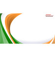 abstract tricolor indian background vector image