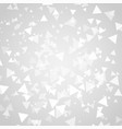 abstract white triangle shapes overlap background vector image vector image