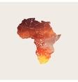 Africa map Africa grunge logo Africa logog vector image vector image