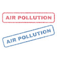 air pollution textile stamps vector image vector image