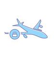 airplane flight plane transport travel unlock icon vector image vector image