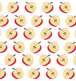 apple fruit harvest fresh seamless pattern image vector image vector image