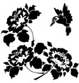 Asian wallpaper with flowers and birds seamless