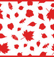 autumn seamless red ornamen vector image vector image