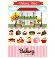 Bakery shop and desserts vector image