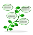 Banner plant vector image