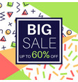 big sale promotional design poster with discount vector image