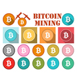Bitcoin symbol flat coin with shadow vector image vector image