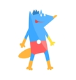 Blue Fox Animal Dressed As Superhero With A Cape vector image vector image