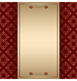 brown ornamental background with center frame vector image vector image