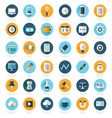 Business Set of flat design icons 36 in 1 vector image