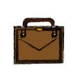 business suitcase portfolio elegant acessory vector image