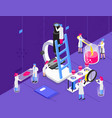 chemistry microscope isometric composition vector image vector image