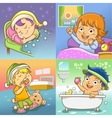 child routine bed room vector image vector image