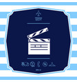 clapperboard symbol icon graphic elements for vector image