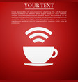 cup of coffee shop with free wifi zone sign vector image vector image