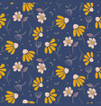 daisy flowers modern pattern seamless vector image vector image