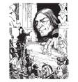 emperor visits gulliver vintage vector image vector image