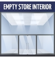 Empty store interior vector image
