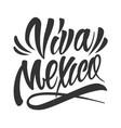 festive calligraphic viva mexico lettering vector image