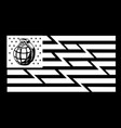 flag american black and white